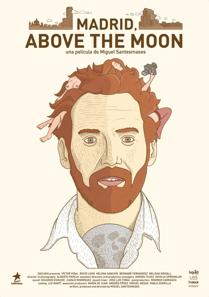 Cartel MADRID ABOVE THE MOON AF